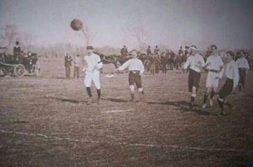 First official match of Sevilla FC against Recreativo de Huelva