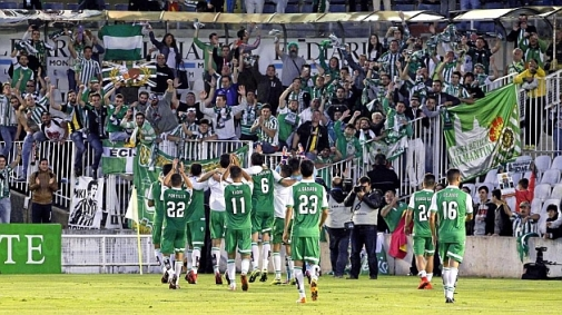 Players celebrate in El Sardinero after Thursday's win
