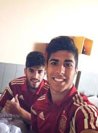 Dani Ceballos at the back training this week with Spain u19s